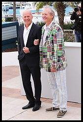Bruce Willis  and Bill Murray at a photo-call for their new film Moonrise Kingdom on the opening day of the Cannes Film Festival, Wednesday  16th May 2012. Photo by: Stephen Lock / i-Images