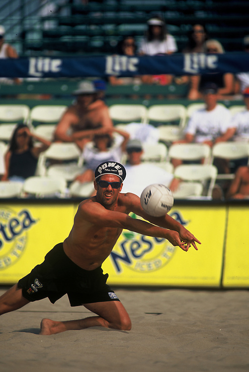 AVP Professional Beach Volleyball - San Francisco, CA - 1996 - Mike Dodd -  Photo by Wally Nell/Volleyball Magazine