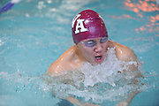 Westford Academy Brian Huang or Justin Yao competes in the 200 medley relay during the DCL meet at Atkinson Pool in Sudbury, Jan. 31, 2015.   (Wicked Local Photo/James Jesson)
