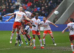 Eoin Doyle of Oldham Athletic (Hidden) scores his sides second goal - Mandatory by-line: Jack Phillips/JMP - 02/04/2018 - FOOTBALL - Sportsdirect.com Park - Oldham, England - Oldham Athletic v Blackpool - Football League One
