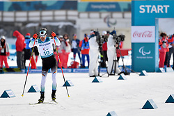 EHLER Alexander GER LW4 competing in the ParaSkiDeFond, Para Nordic Skiing, 20km at  the PyeongChang2018 Winter Paralympic Games, South Korea.