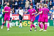 Rochdale midfielder Callum Camps celebrates his goal during the EFL Sky Bet League 1 match between Bolton Wanderers and Rochdale at the University of  Bolton Stadium, Bolton, England on 19 October 2019.