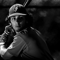 Thomas Medina (France) takes batting practice during a 12 days training camp in Cuba, accross the country.