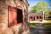 Preserved slave quarters at Boone Hall Plantation in Charleston, SC.