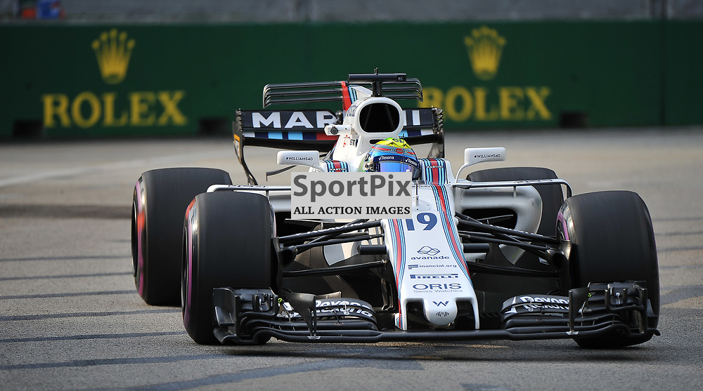 Felipe Massa, Williams Martini F1 Team.<br /> Day 2 of the 2017 Formula 1 Singapore Airlines, Singapore Grand Prix held at The Marina Bay street circuit, Singapore on the 15th September 2017.<br /> Wayne Neal | SportPix.org.uk