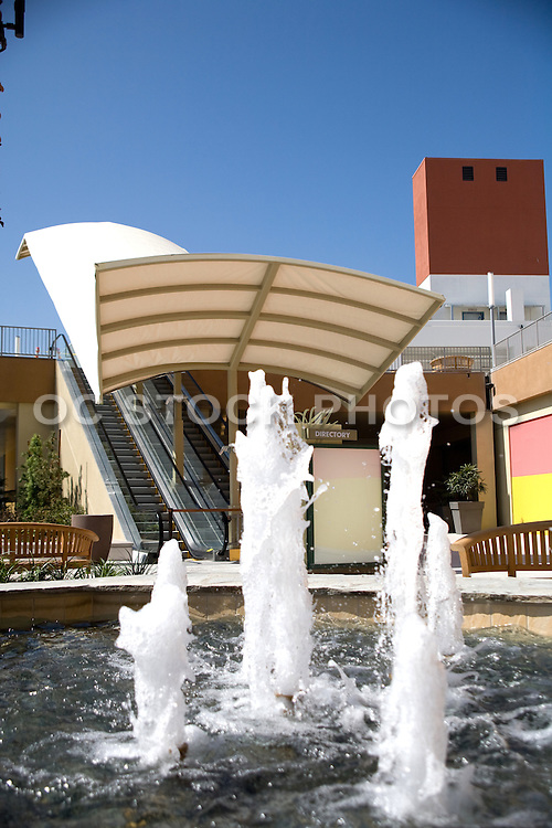 Escalator and Water Fountain at Anaheim Garden Walk