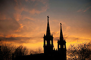 St. Aloysius Church at sunset