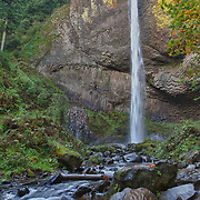 Latourelle Falls And Lower Stream - Columbia Gorge, Oregon - HDR