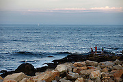 GLOUCESTER, MA - JULY 12: General view of recreational fishing along the coast of the Atlantic Ocean near Gloucester, Massachusetts on July 12, 2009. (Photo by Joe Robbins)