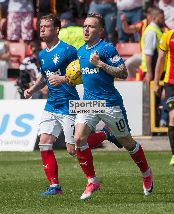 #10 Barrie McKay (Rangers) returns the ball to the centre spot after scoring - Partick Thistle v Rangers - Ladbrokes Premiership - 07 May 2017 - © Russel Hutcheson | SportPix.org.uk
