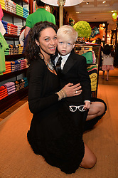LILLY BECKER and her son AMADEUS BECKER at the 4th birthday party for Amadeus Becker, son of Boris & Lilly Becker held at Ralph Lauren, 143 New Bond Street, London on 9th February 2014.
