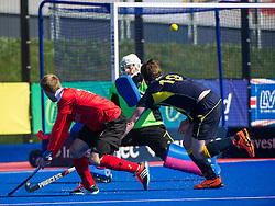 Holcombe's Barry Middleton shoots. Holcombe v Team Bath Buccaneers - Now: Pensions Finals Weekend, Lee Valley Hockey & Tennis Centre, London, UK on 12 April 2015. Photo: Simon Parker