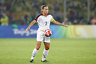21 August 2008: Christie Rampone (USA).The United States Women's National Team defeated Brazil's Women's National Team 1-0 after extra time at the Worker's Stadium in Beijing, China in the Gold Medal match in the Women's Olympic Football tournament.