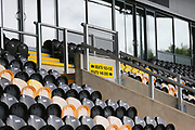 General view of the seats at the Pirelli Stadium during the EFL Sky Bet League 1 match between Burton Albion and Bristol Rovers at the Pirelli Stadium, Burton upon Trent, England on 31 August 2019.
