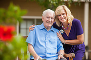 Elderly Gentleman and Caregiver