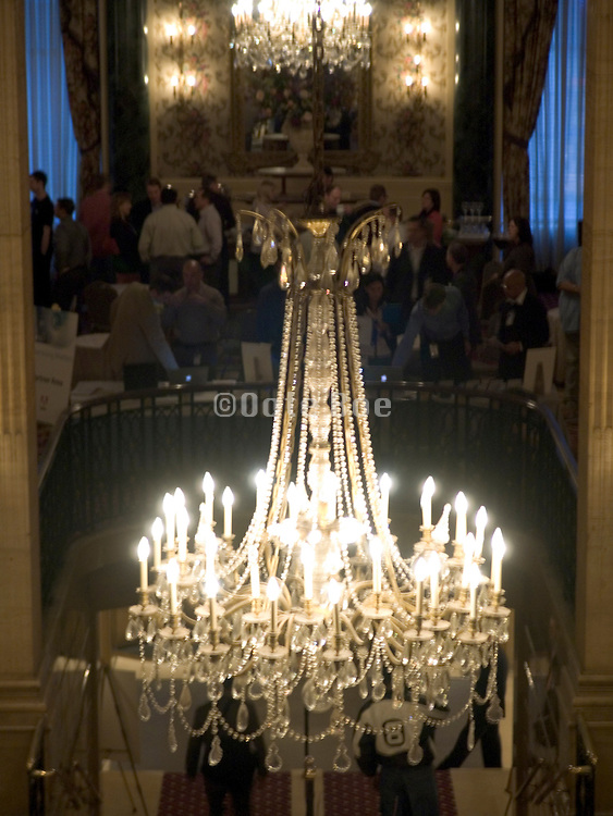 a luxurious chandelier hanging from the ceiling