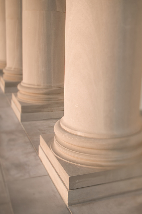 Columns at the Arkansas State Capital building<br /> made of marble