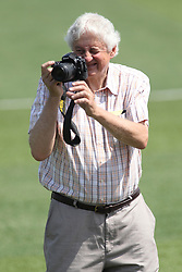 07 June 2015:    Normalite Publisher Ed Pyne during a Frontier League Baseball game between the Southern Illinois Miners and the Normal CornBelters at Corn Crib Stadium on the campus of Heartland Community College in Normal Illinois