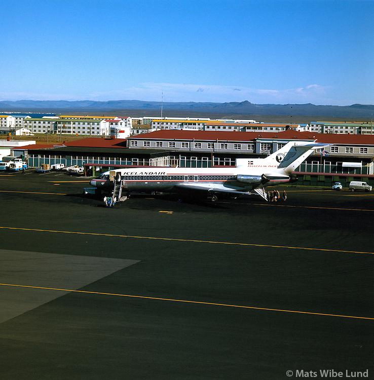 Icelandair B-727 at Keflavik airport 1970