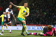 Picture by Paul Chesterton/Focus Images Ltd.  07904 640267.04/02/12.Anthony Pilkington of Norwich scores his sides 2nd goal and celebrates during the Barclays Premier League match at Carrow Road stadium, Norwich.