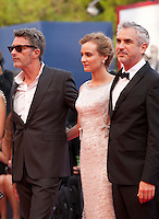 Pawel Pawlikowski, Diane Kruger and President Alfonso Cuaron at the gala screening for the film Everest and opening ceremony at the 72nd Venice Film Festival, Wednesday September 2nd 2015, Venice Lido, Italy.