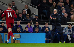 LONDON, ENGLAND - Saturday, January 11, 2020: Tottenham Hotspur's manager José Mourinho during the FA Premier League match between Tottenham Hotspur FC and Liverpool FC at the Tottenham Hotspur Stadium. (Pic by David Rawcliffe/Propaganda)