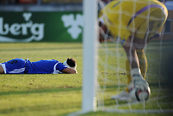 Christian Brolli of San Marino (S.S. Folgore) conceeds an own goal  - Mandatory byline: Joe Meredith/JMP - 07966386802 - 05/09/2015 - FOOTBALL- INTERNATIONAL - San Marino Stadium - Serravalle - San Marino v England - UEFA EURO Qualifers Group Stage