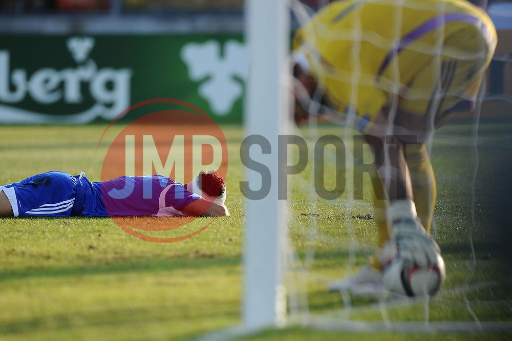 Christian Brolli of San Marino (S.S. Folgore) conceeds an own goal  - Mandatory byline: Joe Meredith/JMP - 07966386802 - 05/09/2015 - FOOTBALL- INTERNATIONAL - San Marino Stadium - Serravalle - San Marino v England - UEFA EURO Qualifers Group Stage