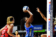 Mystics Grace Nweke shoots for a goal.<br /> Mystics v Tactix, ANZ Premiership, The Trusts Arena, Auckland, New Zealand. Wednesday 8 May 2019. © Copyright Image: Marc Shannon / www.photosport.nz.