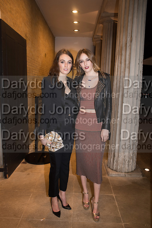 LADY VIOLET MANNERS; LADY ALICE MANNERS, Serpentine Gallery and Harrods host the Future Contempories Party 2016. Serpentine Sackler Gallery. London. 20 February 2016