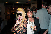 PAM HOGG; SUSANA VIDA, Private view and Summer party to celebrate Haunch of Venison's exhibition. Joanna Vasconcelos; I will Survive and Polly Morgan: Psychopomps. Dover st. arts Club. 20 July 2010. -DO NOT ARCHIVE-© Copyright Photograph by Dafydd Jones. 248 Clapham Rd. London SW9 0PZ. Tel 0207 820 0771. www.dafjones.com.