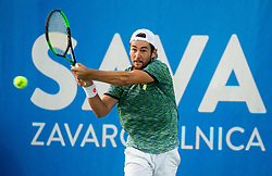 Viktor Durasovic of Norway playing Singles in Quarter - Final of ATP Challenger Zavarovalnica Sava Slovenia Open 2019, day 8, on August 16, 2019 in Sports centre, Portoroz/Portorose, Slovenia. Photo by Vid Ponikvar / Sportida