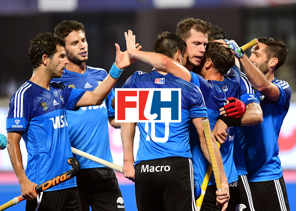 Odisha Men's Hockey World League Final Bhubaneswar 2017<br /> Match id:08<br /> Netherlands v Argentina<br /> Foto: Argentina scored a goal<br /> WORLDSPORTPICS COPYRIGHT FRANK UIJLENBROEK