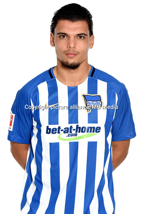 German Bundesliga, official photocall Hertha BSC for season 2017/18 in Berlin, Germany: Karim Rekik.  Copyright: City-Press GbR | usage worldwide