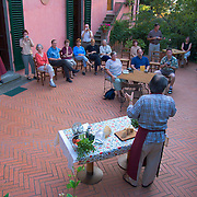Chef conducts cooking class for tourists staying at the Villa Rosa agriturisimo, Panzano in Chianti, Italy - no release available<br />