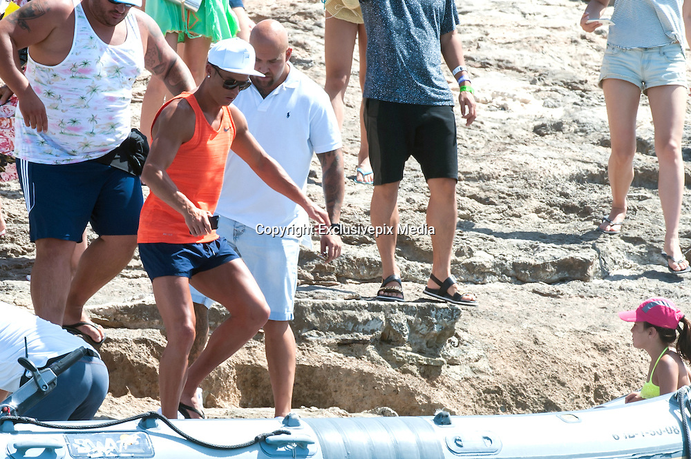 IBIZA, SPAIN, 2016, JULY 19 Cristiano Ronaldo, Real Madrid football player, still enjoying his holliday in Ibiza, during the sunny days, boat stroll and lunch with family and friiends<br /> ©Exclusivepix Media