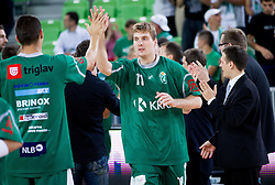 Zoran Dragic of Krka during basketball match between KK Union Olimpija and KK Krka in 4th Final match of Telemach Slovenian Champion League 2011/12, on May 24, 2012 in Arena Stozice, Ljubljana, Slovenia.  (Photo by Vid Ponikvar / Sportida.com)