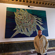 "55th Art Biennale in Venice - The Encyclopedic Palace (Il Palazzo Enciclopedico).<br /> Palazzo Zenobio.<br /> Painter Maxim Kantor (Russia) in his exhibition ""Atlantis""."
