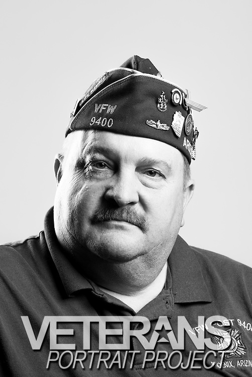 Kevin Haegele<br /> Navy<br /> E-6<br /> Electronics<br /> 1981 - 1997<br /> Desert Storm, Bosnia<br /> <br /> Veterans Portrait Project<br /> St. Louis, MO