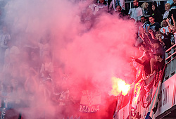 26.07.2017, Red Bull Arena, Salzburg, AUT, UEFA CL, FC Salzburg vs HNK Rijeka, Qualifikation, 3. Runde, Hinspiel, im Bild Rijeka Fans // during the UEFA Championsleague Qualifier 3rd round, 1st leg match between FC Salzburg and HNK Rijeka at the Red Bull Arena in Salzburg, Austria on 2017/07/26. EXPA Pictures © 2017, PhotoCredit: EXPA/ JFK