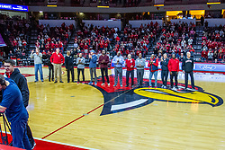 NORMAL, IL - February 15: The 1000 point club minus Dan Muller during a college basketball game between the ISU Redbirds and the Valparaiso Crusaders on February 15 2020 at Redbird Arena in Normal, IL. (Photo by Alan Look)