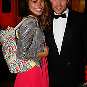 NLD/Amsterdam/20091121 - JFK Great men of the Year Gala 2009, Rianne Dekker met Dirk Taat