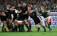 Rugby Union - 2019 Rugby World Cup - Pool B: New Zealand vs. South Africa<br /> <br /> Aaron Smith of New Zealand at the International Stadium Yokohama, Yokohama City.<br /> <br /> COLORSPORT/LYNNE CAMERON