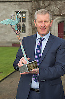 29/02/2014 George Harrington, HN Cost Management Ltd who were the joint winners of the SCCUL Enterprise Business Services Award. The winners were announced at the annual SCCUL Enterprise Awards prize giving ceremony and business expo which was hosted by NUI Galway in the Bailey Allen Hall, NUIG .<br />  <br /> Inspired by the rapidly growing global trends of health and wellness, NUA Naturals supplies and distributes high quality health food in Ireland and the UK while also sourcing raw ingredients internationally which are then packaged and distributed under the NUA brand name.<br />  <br /> Established in 2011, NUA Naturals currently employs 11 people at their base in Westside, Galway. The company entered the UK market last year and has plans to increase their reach internationally over the next 18 months.<br />  <br /> NUA Naturals&rsquo; Niall Fennell was presented with his prize by Padraig O&rsquo; Callaghan, Chairman of St. Columba&rsquo;s Credit Union Galway, and John Lenihan, Chairman of SCCUL Enterprises who jointly sponsored the winner&rsquo;s prize.<br />  <br /> Speaking at the event, Mr. Fennell said that he was honored and delighted to receive this award.<br />  <br /> &ldquo;Entering the SCCUL Awards has been an incredible experience for us. It has allowed us to take a step back and really look at our business. We will invest our award back into our business to help us take our business to the next level,&rdquo; said Mr. Fennell.<br />  <br /> NUA Naturals also receives a &euro;2500 advertising package from local media sponsor Galway Independent and a specially commissioned sculpture by Galway based sculptor, Liam Butler. Photo:Andrew DownesThe SCCUL Enterprise Social Enterprises Award was won by Act for Meningitis and Ex Ordo Ltd was the recipient of the SCCUL Enterprise ICT Award. The winner was announced at the annual SCCUL Enterprise Awards prize giving ceremony and business expo which was hosted by NUI Galway in the Bailey Allen Hall, NUIG .<br />  <br /> Inspired by the rapidly growing global trends of health and wellness, NUA Naturals supplies and distri