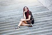 Paige Tweedy senior pictures, downtown Phoenix, March 13, 2017. (Nancy Wiechec Photography)