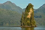 New Eddystone Rock, near Ketchikan and Misty Fjords National Monument, Alaska.