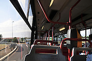 Rome, Italy Interior of a bus