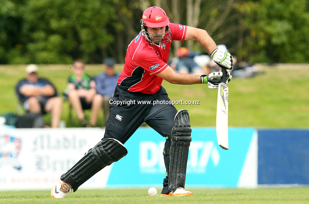 Shanan Stewart in action for the Wizards.<br /> Otago Volts v Canterbury Wizards, 5 February 2012, University Oval, Dunedin, New Zealand.<br /> Photo: Rob Jefferies/PHOTOSPORT