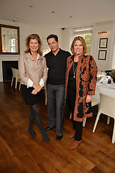 Left to right, VIRGINIE TAITTINGER, LUIS MIGUEL HOWARD and LUIS MIGUEL HOWARD at a lunch to promote the jewellery created by Luis Miguel Howard held at Morton's, Berkeley Square, London on 20th October 2016.