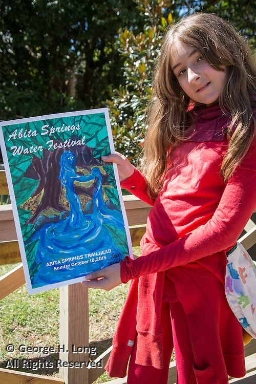 Ciara Randolph at the 2015 Abita Springs Water Festival with her winning poster art